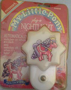 MLP My Little pony Plug In Night Light Micromark  mm9440 Princess Sparkle