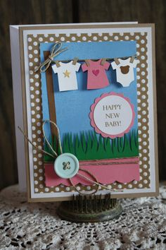 Handmade Baby Card - Congratulations Card