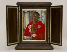 Artist Kehinde Wiley Gains Attention for Exhibit at Phoenix Art Museum Phoenix Art Museum, Kehinde Wiley, Portraits, Expositions, Museum Exhibition, Wood Paneling, Art And Architecture, Illustration, Artist