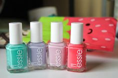 Essie Pastels. Perfect for spring break!