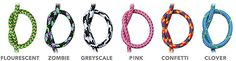 ThinkGeek :: Eastern Collective Braided Fabric Smartphone Cables