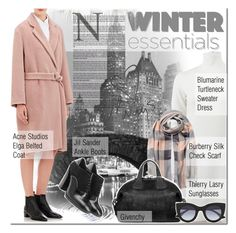"""Winter Essentials"" by elena-starling ❤ liked on Polyvore featuring Blumarine, Acne Studios, Jil Sander, Burberry, Givenchy, Thierry Lasry, Love Always, winteressentials and fallwinter2015"
