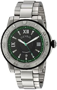 Gevril Men's 3111B Seacloud Analog Display Automatic Self Wind Silver Watch