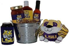 The Louisiana State University Tailgate Grilling Gift Basket  from @giftprose