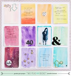 five ideas to use watercolours by jen kinkade @ shimelle.com project life