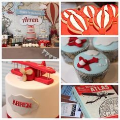Up & Away Travel Themed 1st Birthday Party {Planning,Decor, Ideas} via Kara's Party Ideas KarasPartyIdeas.com #airplanes #hotairballoons #travel
