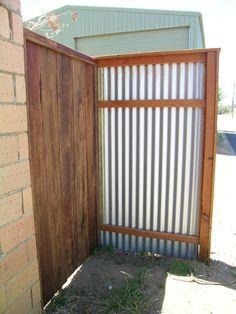 rustic jarrah gate