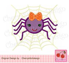 Spider and the spider web for girls by CherryStitchDesign on Etsy, $2.99