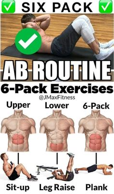 Abs Workout - Online Fitness and Bodybuilding Guide 10 Minute Ab Workout, 6 Pack Abs Workout, Oblique Workout, Abs Workout Routines, Abs Workout For Women, Ab Workout At Home, Vertical Leg Crunches, Six Pack Abs Men, Ripped Body
