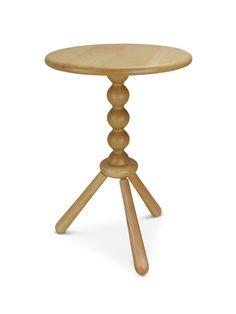 Turned pedestal side tables made in ash. Harvey Furniture, Pedestal Side Table, Craft Items, Side Tables, Wooden Boxes, Ash, Furniture Design, Stool, Home Decor