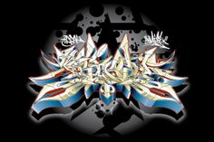 2003 t-shirt design for Tribal gear. 2 diminutional wild style Tribal by Misk1