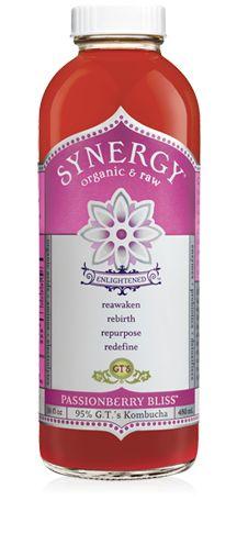 enlightened synergy passionberry bliss kombucha probiotic elixir (good 4 your gut)