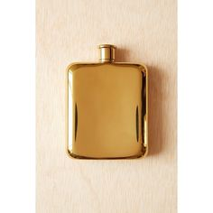 Gold Plated Flask (47 AUD) ❤ liked on Polyvore featuring home, kitchen & dining, bar tools, gold, urban outfitters flask and urban outfitters