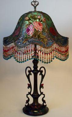 Vintage Beaded Fringe Lamps •~• roses