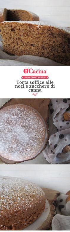 Torta soffice alle noci e zucchero di canna della nostra utente Francesca. Unisciti alla nostra Community ed invia le tue ricette!