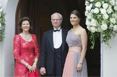King Carl Gustaf,Queen Silvia and Crown Princess Victoria attended the 70th birthday party of Prince Andreas of Saxe-Coburg and Gotha at Castle Callenberg.