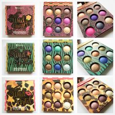 BH Cosmetics Wild Palettes  Wild at Heart Wild and Free Wild Child  Baked eyeshadows! Highly pigmented! Love them!