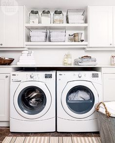 Loving this laundry room designed by @qummunicate. Isn't it lovely? Laundry…