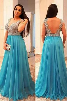 a884fff3a2 Sparkly Beaded Blue Prom Dress Custom Made Fashion Long A-Line Formal  Evening Dress Plus Size Prom Dresses PD374