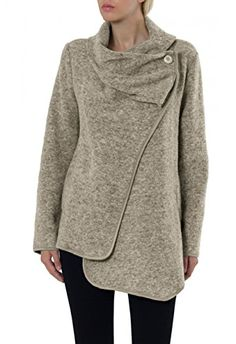 CASPAR Ladies Winter Wool Jacket / Cardigan MADE IN ITALY - many colours - STJ002, Farbe:beige;Mode Größe:One Size CASPAR Fashion http://www.amazon.com/dp/B00NJSUYS8/ref=cm_sw_r_pi_dp_nnqIub01HNGG4