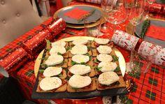 Christmas Canapes Mozzarella Chorizo