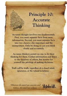 Accurate Thinking  #greatestprincipals #napoleonhill #lawofsuccess #mindset #wayoflife #lifestyle #accuratethinking