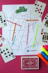Estimation Game - draw a card, try to estimate which line measures that length, if correct highlight line with your marker