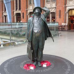 John Betjeman at St Pancras. He helped save the station from redevelopment