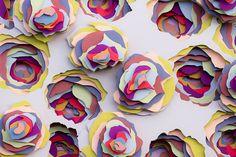 The Multi-Layered Beauty of Maud Vantours' Paper Art - Cube Breaker 3d Paper Art, Paper Artwork, Diy Paper, Paper Artist, Origami, Art Cube, Design Textile, Arte Popular, Motif Floral