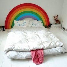 Rainbow face bed lol