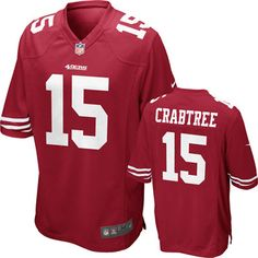 Michael Crabtree Jersey: Home Red Nike San Francisco 49ers Jersey
