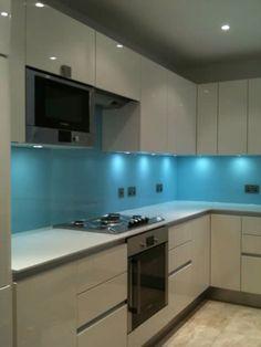 Kitchen kickboard baseboard led lights totally want these new gloss kitchen with glass splashback workwithnaturefo