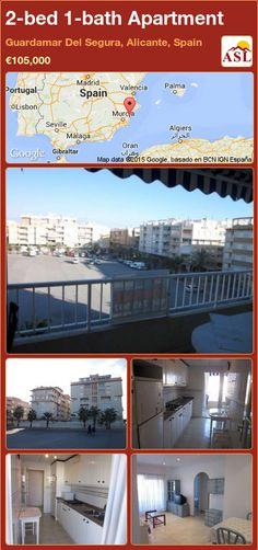 2-bed 1-bath Apartment in Guardamar Del Segura, Alicante, Spain ►€105,000 #PropertyForSaleInSpain