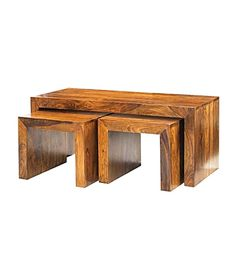 Furniture In Fashion Cube Sheesham John Long Coffee Tables Small Wooden Stool, Wooden Stools, 3 Piece Coffee Table Set, Coffee Table With Storage, Coffee Tables, Table For Small Space, Large Table, Indian Furniture, New Furniture