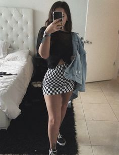 69 most cute casual summer outfits ideas for teen girls 58 Edgy Outfits, Mode Outfits, Grunge Outfits, Skirt Outfits, Outfits For Teens, Fall Outfits, Summer Outfits, Fashion Outfits, Boy Fashion