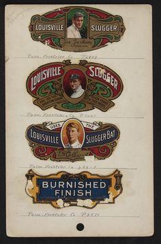 vintage Louisville Slugger decals