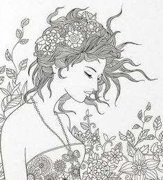 Beautiful Woman : Floating Lace Adult Coloring Book I AliExpress