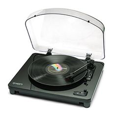 Air LP Bluetooth Turntable - The Air LP™ is a turntable for the modern living room. It connects wirelessly to the included Bluetooth speaker, or to any Bluetooth speaker setup you already own. So you can put both the turntable and the speakers wherever you want, and not worry about how you're going to run cable between them. | ThinkGeek
