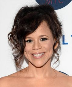 View yourself with this Rosie Perez Long Curly Dark Brunette Hairstyle Elegant Hairstyles, Formal Hairstyles, Long Curly Hair, Curly Hair Styles, Dark Brunette Hair, Hot Rollers, Textured Hair, Face Shapes, Good Skin