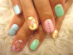 Stars x pastel colours #nails