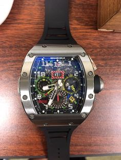 Richard Mille NEW-全新 RM 11-02 Titanium Flyback Chronograph Dual Time Zone Watch - Selling Price 售價: HK$1,075,000.   #rm1102 #rm1102ti #rm1102titanium
