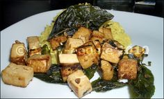 basil-crispy tofu with rice by Artsy-Foodie, via Flickr