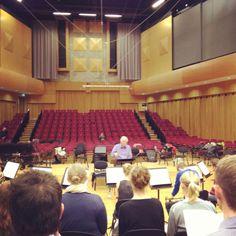 Cardiff University Chamber Choir rehearsing Rutter's Gloria for a concert at BBC Hoddinott Hall