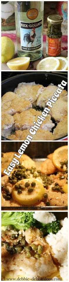 Quick and easy #Lemon #chicken #piccata recipe. You will want to make this tonight!