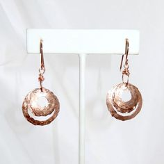 Three Hoop Copper Earrings by blingbychristine on Etsy
