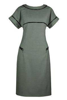 Suknia Roxana pepitka czarno-biała