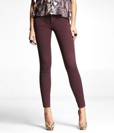 STELLA EXTREME STRETCH COLORED JEAN LEGGING-PURPLE at Express #ExpressHoliday