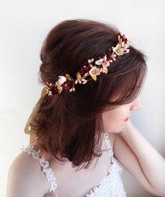 burgundy headband burgundy wedding bridal headband by thehoneycomb