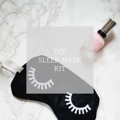 All the supplies you need to make this velvet sleep mask are available in one kit!