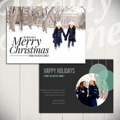 Christmas Card Template Full of Love C  5x7 by BeautyDivineDesign, $8.00
